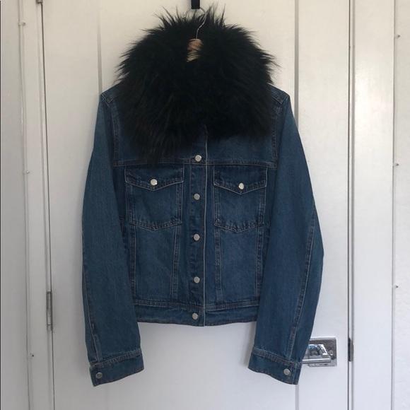 e5eb5e814c4a bagatelle Jackets & Coats   Denim Jacket W Faux Fur Black Collar ...